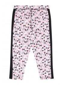 Older Girls Pink Geo Crop Leggings