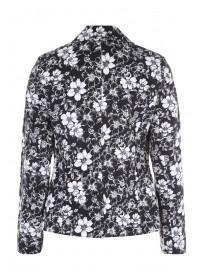 Womens Monochrome Floral Jacket