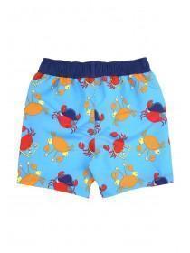 Younger Boys Crab Print Swim Shorts