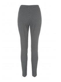 Womens Black Jacquard Pull On Trousers