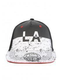 Older Boys Black LA Splat Snapback