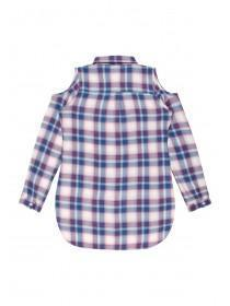 Older Girls Pink Check Shirt