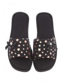Womens Black Spa Slippers