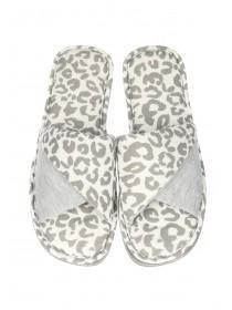 Womens Grey Spa Slippers