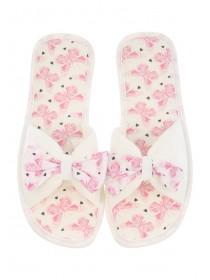 Womens Pink Butterfly Spa Slipper