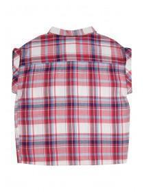 Older Girls Pink Boxy Check Shirt