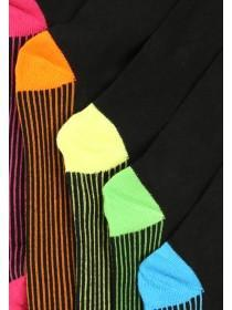 Mens 5PK Fluro Design Socks