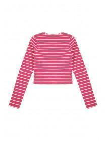 Older Girls Striped Ribbed Long Sleeve T-Shirt