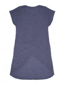 Older Girls Mid-Blue Crossover T-Shirt