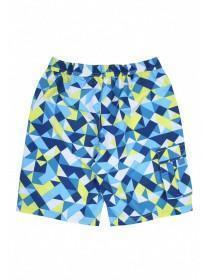 Older Boys Blue Geometric Swim Shorts
