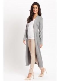 Jane Norman Grey Rib Maxi Cardigan