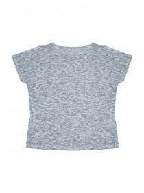 Older Girls Grey Tie Front T-Shirt