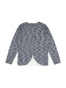 Older Girls Blue Open Back Sweater