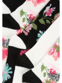 Womens 5pk Floral Socks