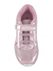 Younger Girls Pink Light-Up Trainers
