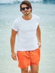 Mens Orange Swim Shorts