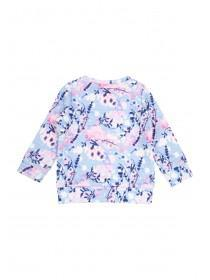 Younger Girls Floral Quilted Sweater