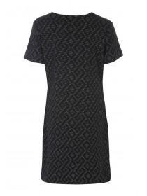 Womens Black Zip Detail Shift Dress