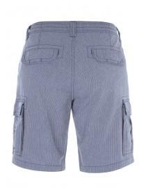 Mens Dark Blue Striped Cargo Shorts