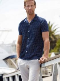 Mens Natural Belted Linen Shorts