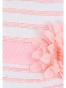 Younger Girls Pink Striped Floppy Hat