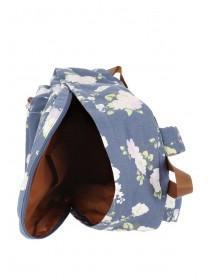 Womens Blue Floral Rucksack