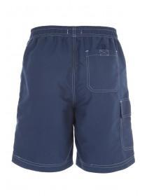 Mens Dark Blue Cargo Swim Shorts