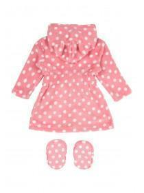 Baby Girl Pink Robe and Bootie Set