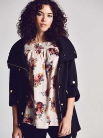 Womens Black Textured Parka Coat