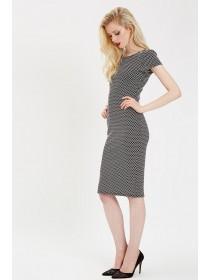 Jane Norman Mono Spot Texture Dress