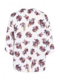 Womens Cream Floral Kimono