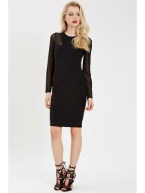 Jane Norman Black Bandage Mesh Dress