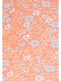 Womens Coral Floral Umbrella