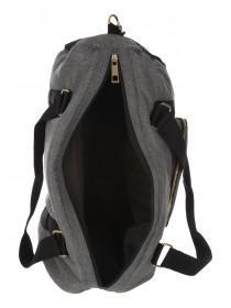 Womens Grey Sports Barrel Bag