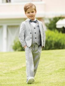 Younger Boys Grey Formal Trousers