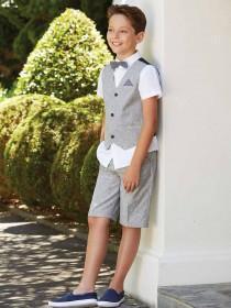 Older Boys Formal Grey Shorts