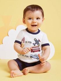 Baby Boys Retro T-Shirt & Short Set