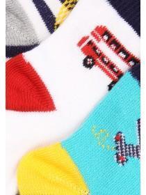 Baby Boy 3PK Skate 8 Socks