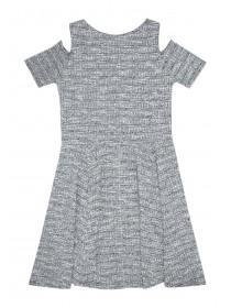 Older Girls Ribbed Cold Shoulder Dress