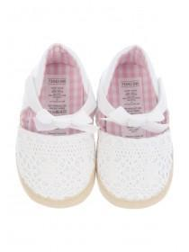 Baby Girls White Crochet Espadrille Shoes