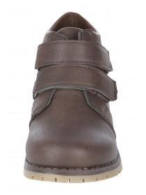 Younger Boys Brown Velcro Strap Boot