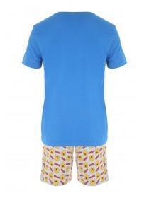 Mens Grey Emoji Licensed Pyjama Top & Shorts