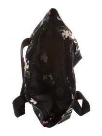 Womens Black Tropical Beach Bag