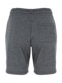 Mens Black Textured Zip Sweat Shorts