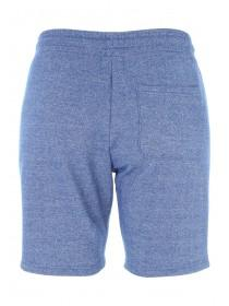 Mens Blue Textured Zip Sweat Shorts