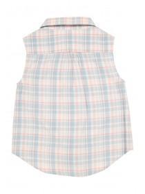 Younger Girls Sleeveless Check Shirt