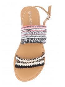 Womens Aztec Striped Sandals