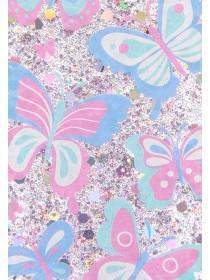 Womens White Butterfly Glitter S6 Phone Case