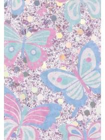 Womens White Butterfly Glitter iPhone Case