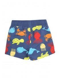 Baby Boys Blue Sea Creature Swimshorts
